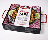 "Paella Tapa: Paellera ""mini"", broth and rice.<br /><b>Your paella in 9 minutes</b>"